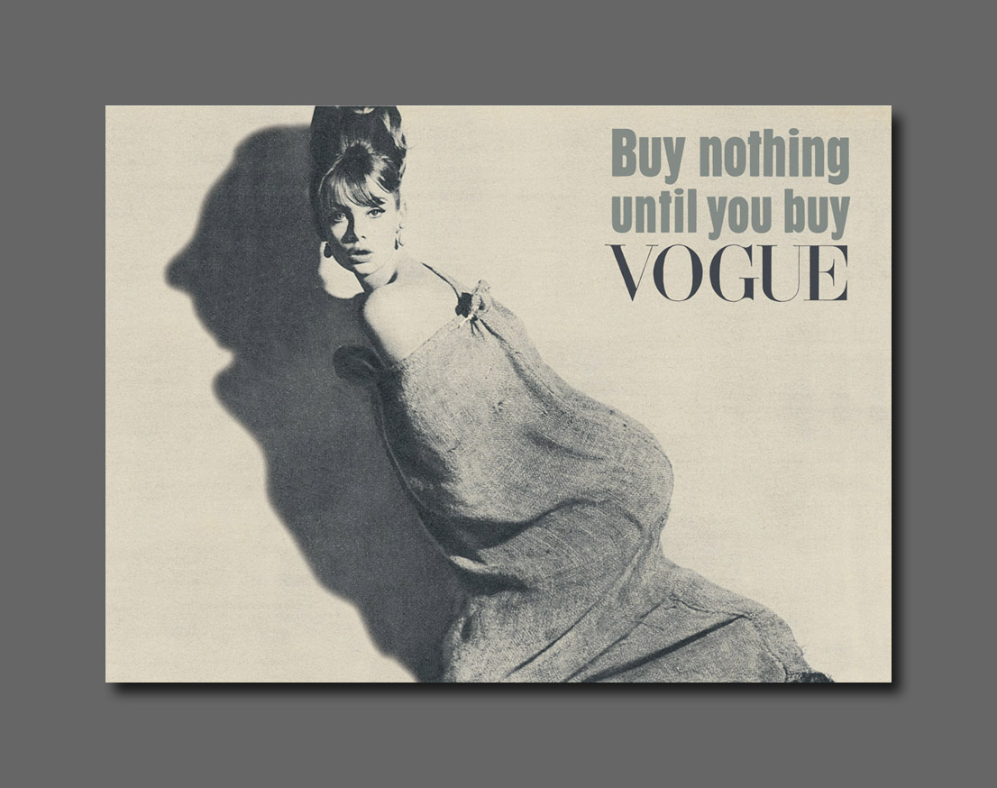 Magazine - Vogue - Buy-nothing-Shrimpton